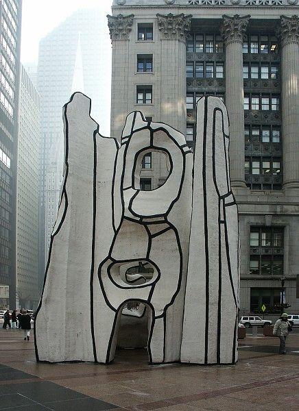 #sculpture - Monument à la bête debout (Monument with Standing Beast) by Jean Dubuffet
