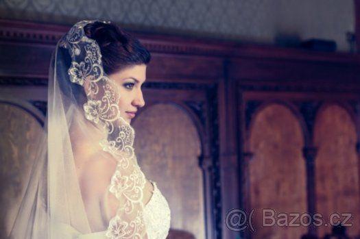 Tylové svatební šaty - NOVÉ - 1