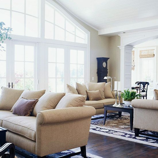 Top Decorating Tips For Open Floor Plans. Neutral Living RoomsOpen ...