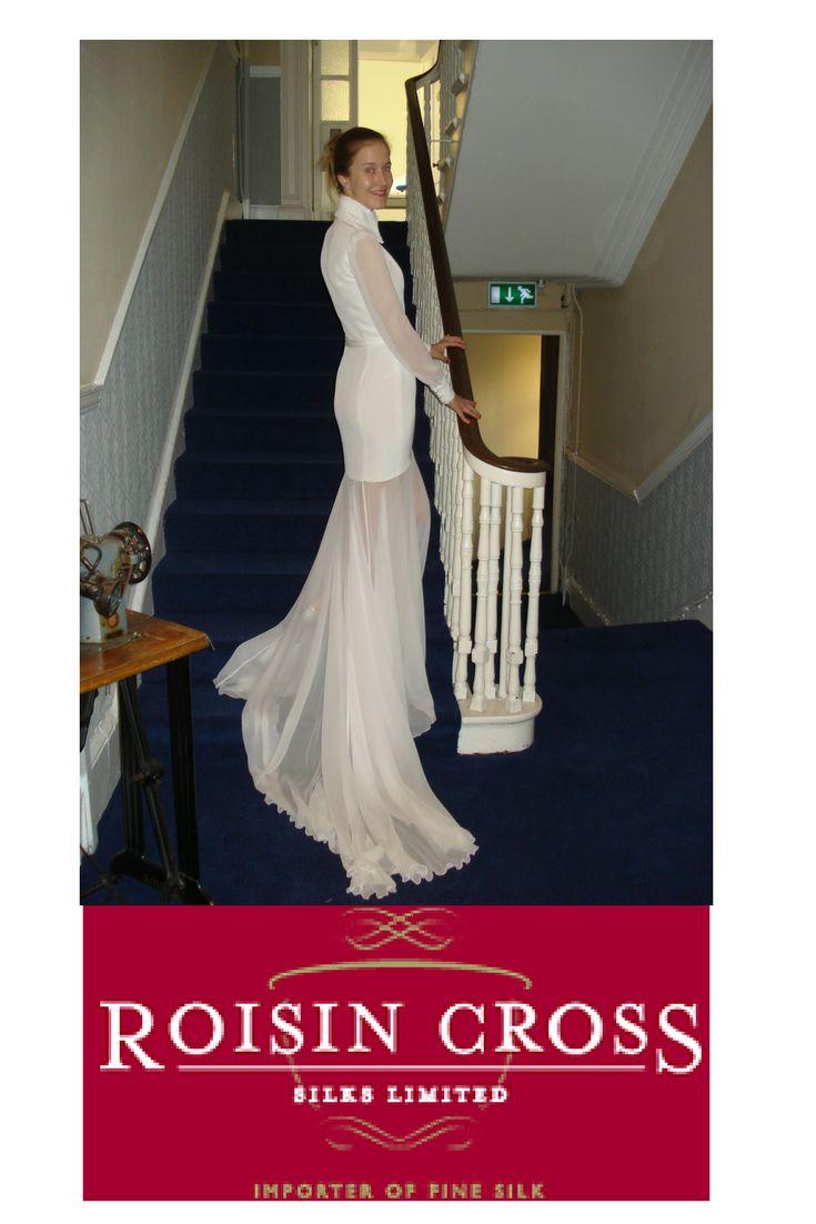 Bridal Board Silk Crepe and silk Chiffon bridal dress