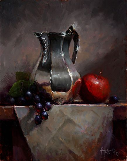 Mother's Favorite Pitcher by Kathy Tate Oil ~ 14 x 11