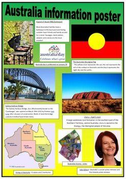 AUSTRALIA - INFORMATION POSTERS - FREE TeachersPayTeachers.com