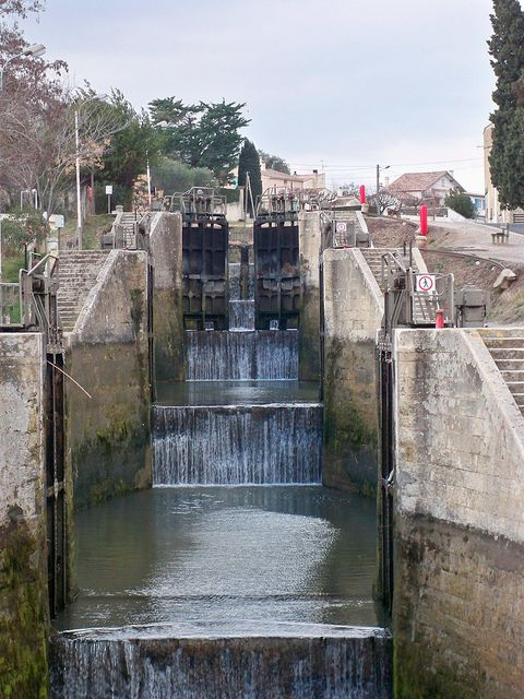 The nine locks of the Canal du Midi at Beziers, via Flickr.
