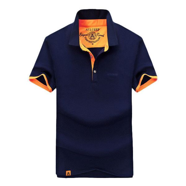 AFSJEEP Fashion Casual Solid Color Lapel Polo Shirt Short Sleeve Plus... (€18) ❤ liked on Polyvore featuring men's fashion, men's clothing, men's shirts, men's polos, men tees & tank top polo, royal blue, mens long sleeve collared shirts, mens polo shirts, mens collared shirt and mens long sleeve polo shirts