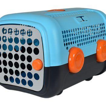 Caisse de transport pour chien et chat A.U.T.O_bleu united pets