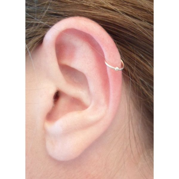 Yellow Gold Filled Hoop Earring + BEAD BALL Cartilage Tragus Helix... ($9.64) ❤ liked on Polyvore featuring jewelry, earrings, piercings, beaded jewelry, wire wrapped earrings, ball earrings, beaded earrings and wire wrapped hoop earrings