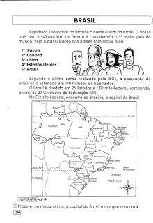 Atividades EJA - Descobrimento do Brasil, capitais,Hino Nacional e Mapa político   Atividades Educativas