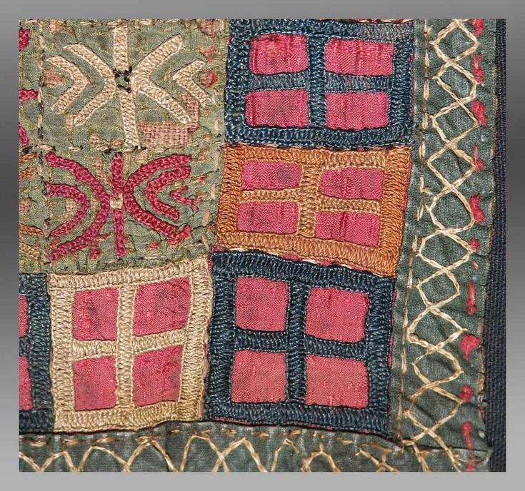 Detail, Yomut Embroidered Bokche, Central Asia
