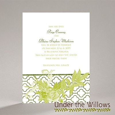 Rustic Roses - Save the Date Card | Invitations By Dawn