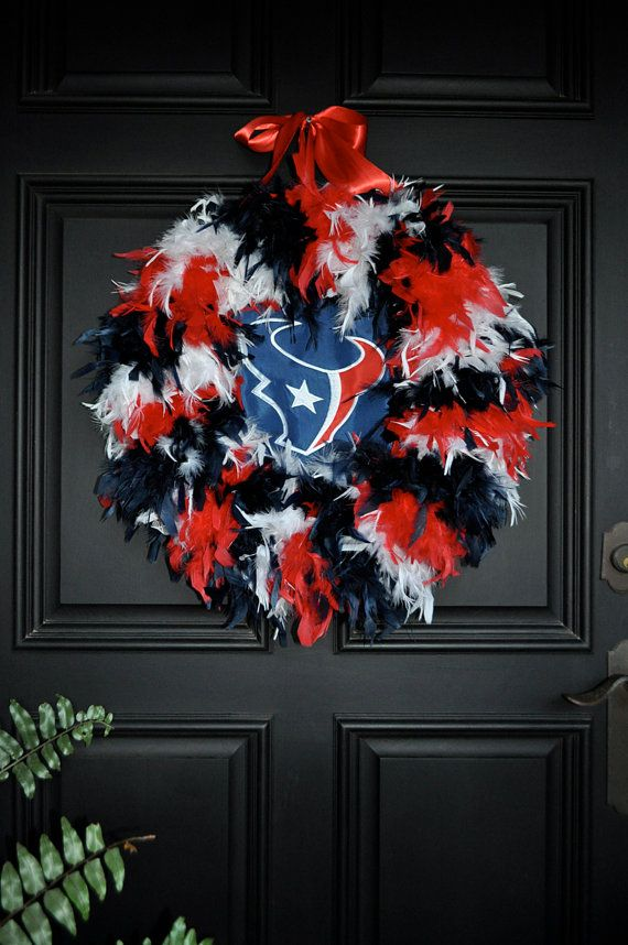 Houston Texans Wreath by Bonnieharmsdesigns on Etsy, $85.00