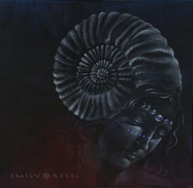 Série de peinture visionnaire psychédélique déesse par emkell