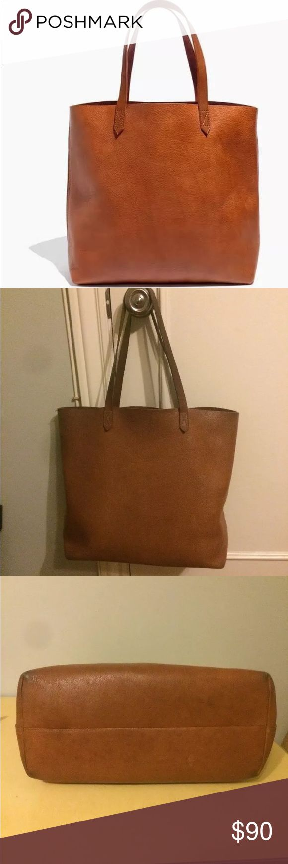 Madewell transport tote in English saddle This is a used Madewell Transport Tote. See photos for wear. Still works and looks great. These bags retails for over $160. Message with questions and send me offers Thanks! Madewell Bags Totes