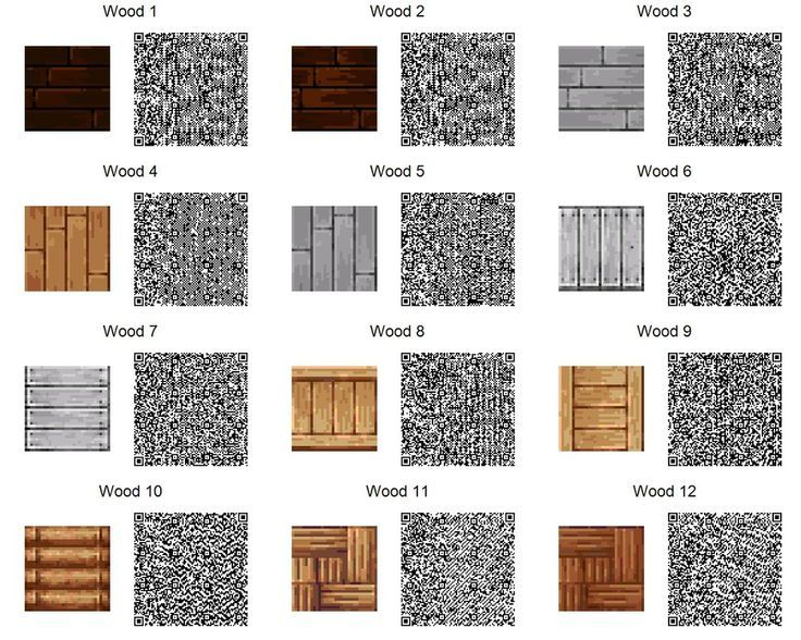 ACNL QR Code: Wood Tiles (If too small, use download link at right of the page for full resolution.) 2 of 3: