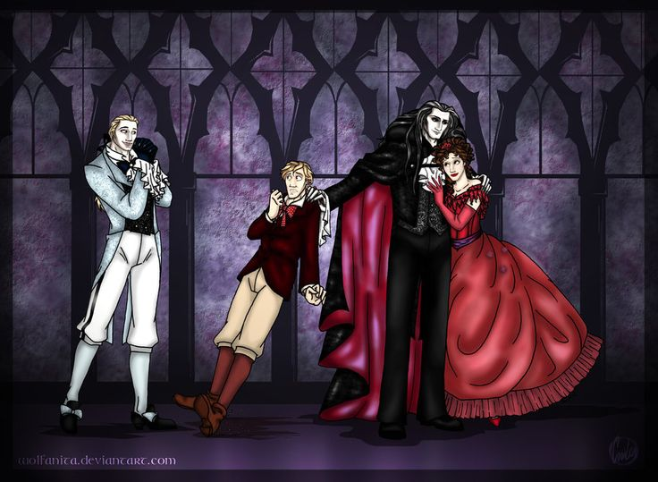 I made this as an Easter present for my best friend. She was really happy about it, and maybe there are some more out there who'll like it. It's a fanart of the musical 'Tanz der Vampire' (= dance ...