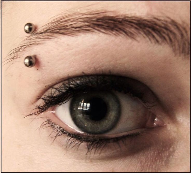 Piercing eyebrow