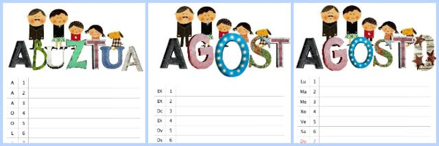calendario imprimible gratuito agosto 2016 /August 2016 free calendar (freebie)