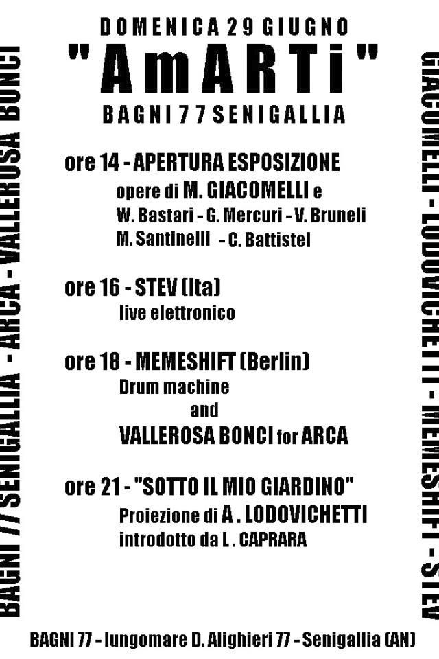 Mario Giacomelli, Andrea Lodovichetti, Memeshift, Stev and other for ARCA onlus! One day in art and love!