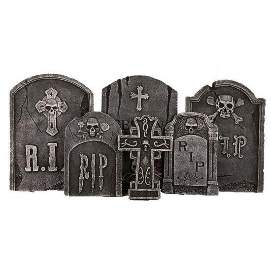 Halloween Decoratie grafstenen set 6 stuks
