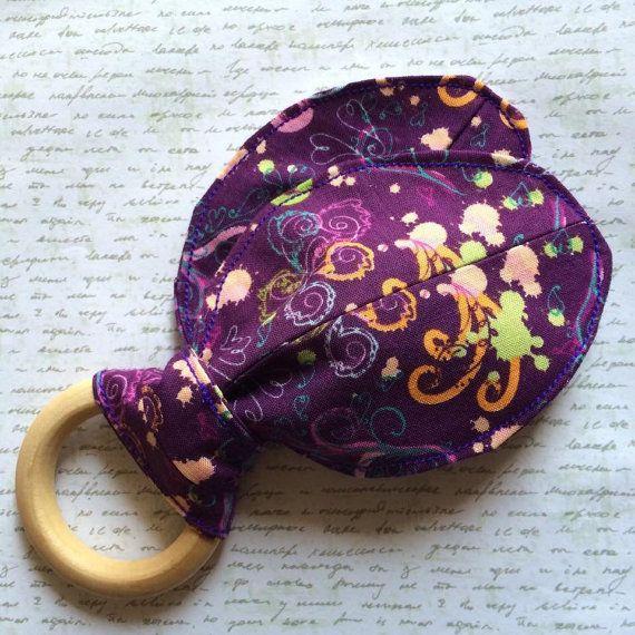Custom order Cotton Bunny Ear Teething Toy with by ReenieAndBella
