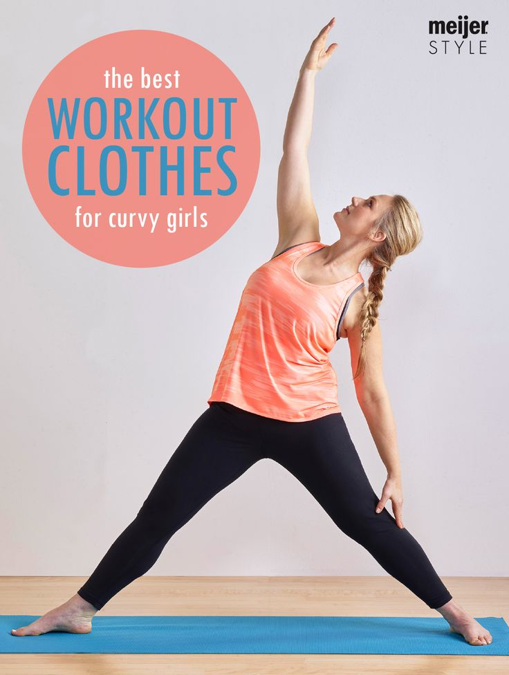 Curvy, sporty and everything in between, these are the best yoga clothes for every body shape. From strappy sports bras to fold over waist yoga pants, here's our can't miss workout clothes for plus size athletes. #MeijerStyle