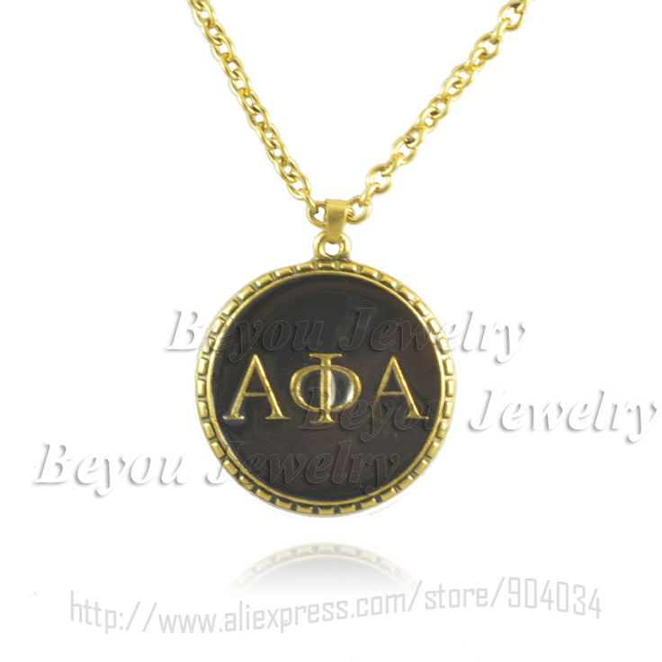 Alpha Phi Alpha Greek Letter Jewelry Necklace