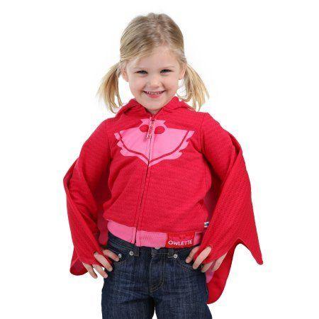 PJ Masks Owlette Toddler Girl Costume Hoodie, Red