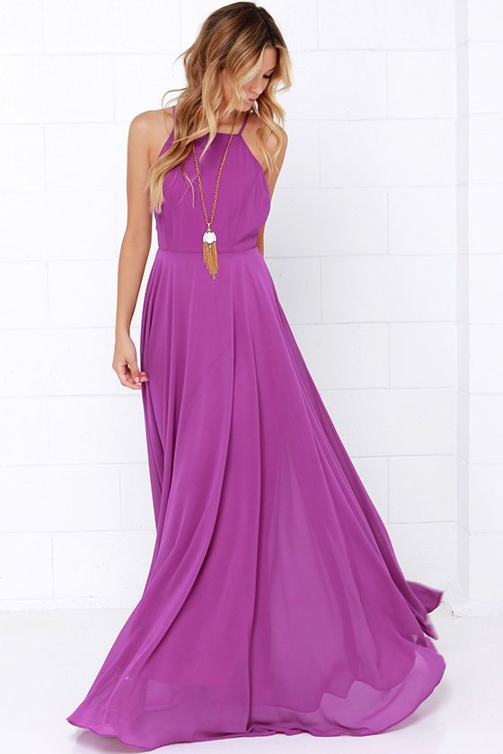Pointe Ball Outfit? Mythical Kind of Love Purple Maxi Dress at Lulus.com!