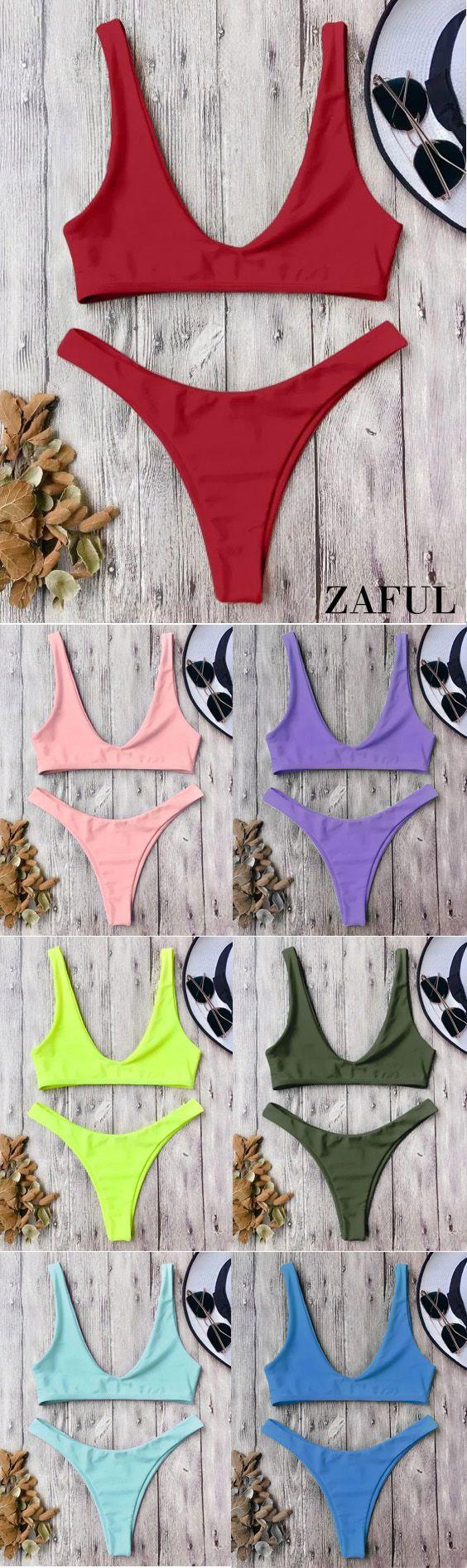 Up to 80% OFF! High Cut Bikini Set. #Zaful #Swimwear #Bikinis zaful,zaful outfits,zaful dresses,spring outfits,summer dresses,easter,super bowl,st patrick's day,cute,casual,fashion,style,bathing suit,swimsuits,one pieces,swimwear,bikini set,bikini,one piece swimwear,beach outfit,swimwear cover ups,high waisted swimsuit,tankini,high cut one piece swimsuit,high waisted swimsuit,swimwear modest,swimsuit modest,cover ups @zaful Extra 10% OFF Code:ZF2017