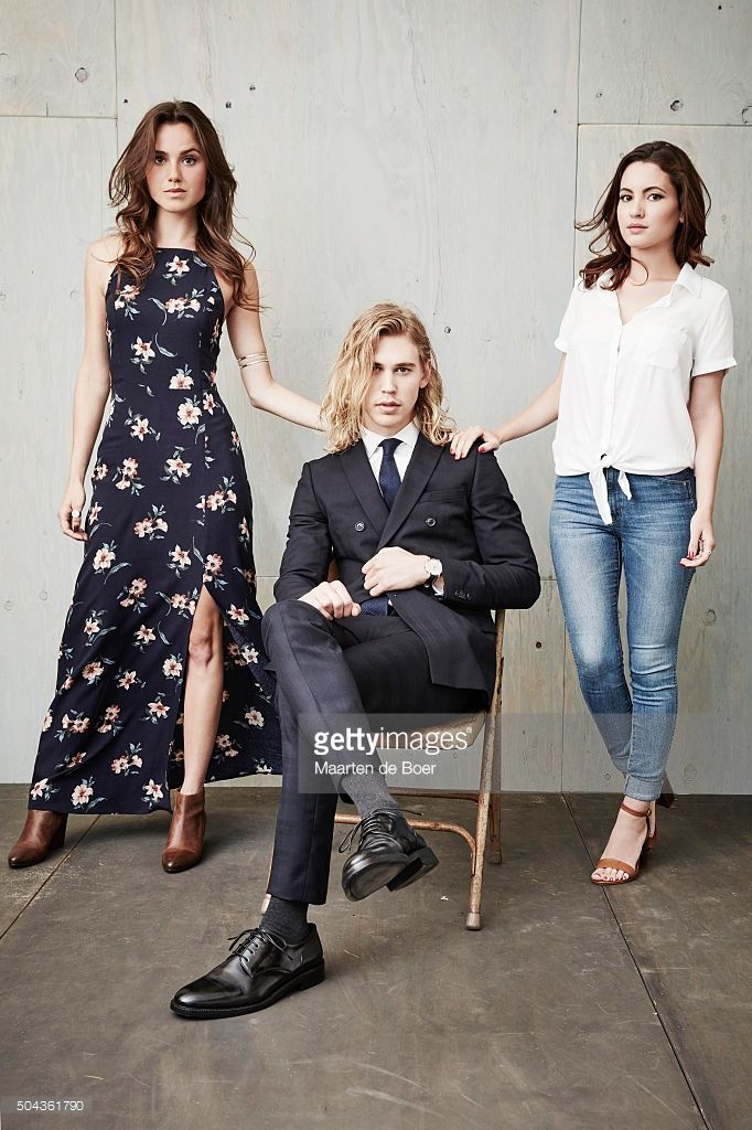 Poppy Drayton, Austin Butler and Ivana Baquero of A+E Network's MTV - 'The Shannara Chronicles' poses in the Getty Images Portrait Studio at the 2016 Winter Television Critics Association press tour at the Langham Hotel on January 6, 2016 in Pasadena, California.