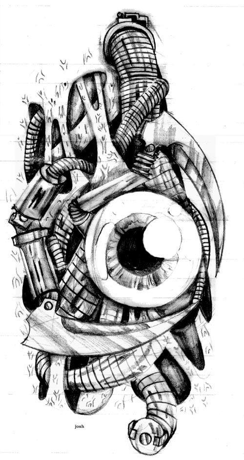 biomechanical drawing - Bing Images | Tattoos | Pinterest ...