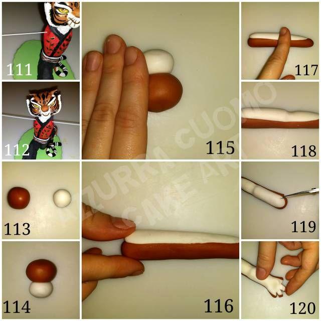 """Master Tigress"" tutorial (Kung Fu Panda) #6: Arms. .. - CakesDecor"