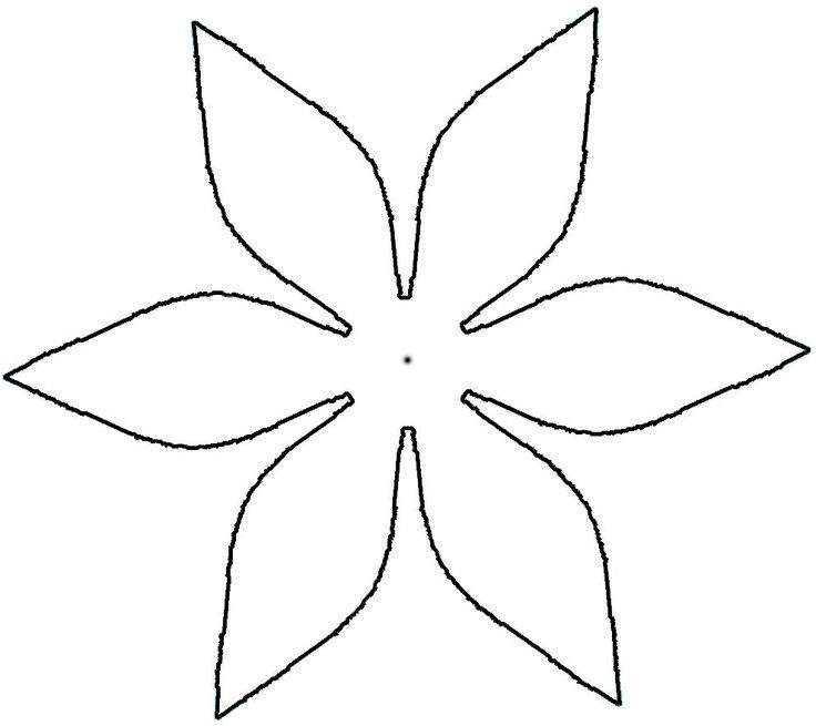 image about 5 Petal Flower Template Free Printable named Petal clipart paper flower #4 Paper templates Flower