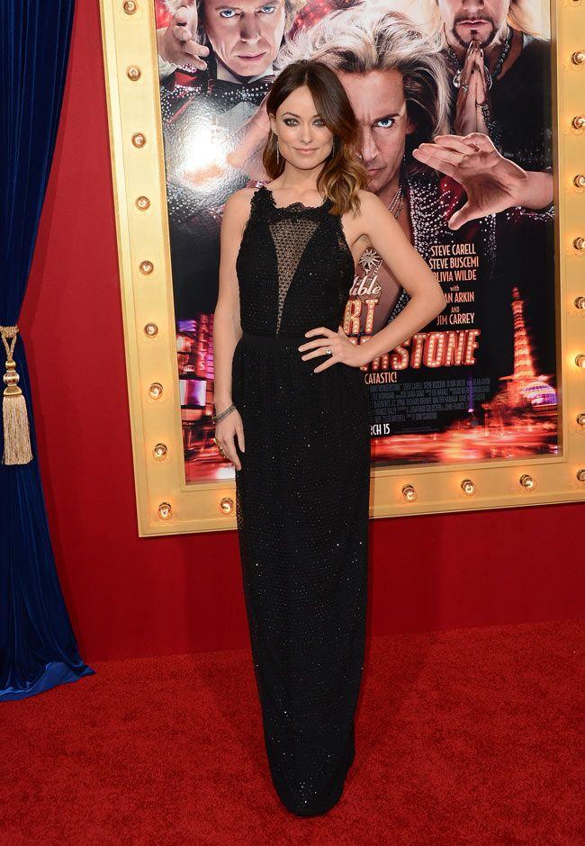 Olivia Wilde in Gucci at The Incredible Burt Wonderstone LA Premiere