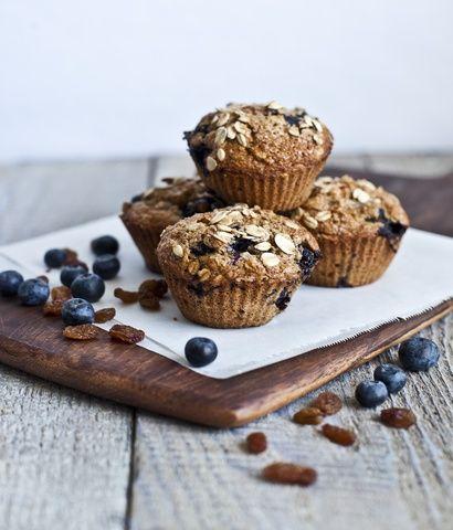 muffins myrtilles, raisins secs et orange