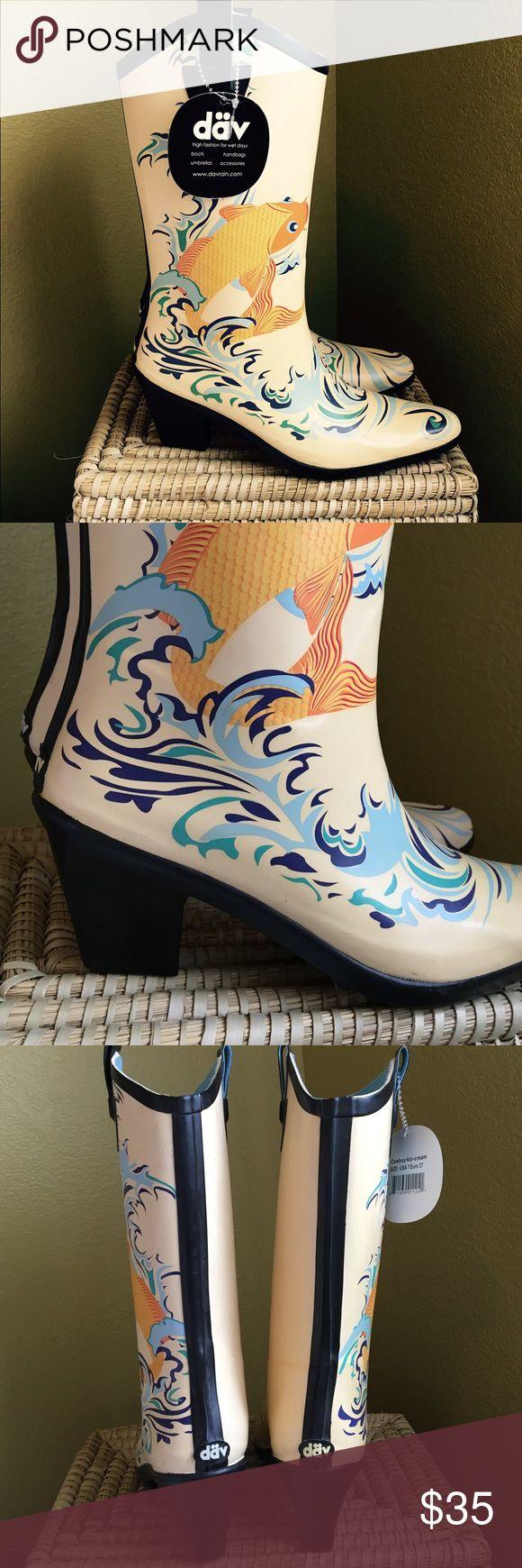dav cowboy RAIN BOOTS NEW adorable COWBOY RAIN BOOTS‼️ dav Shoes Winter & Rain Boots