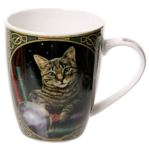 Coffee Mug  Cat Fortune Teller Lisa Parker by getgiftideas on Etsy