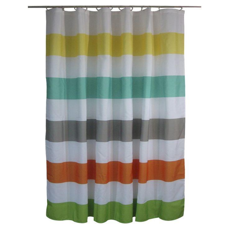 Shower Curtain Circo Rugby Stripes Warm  Kids Shower Curtain