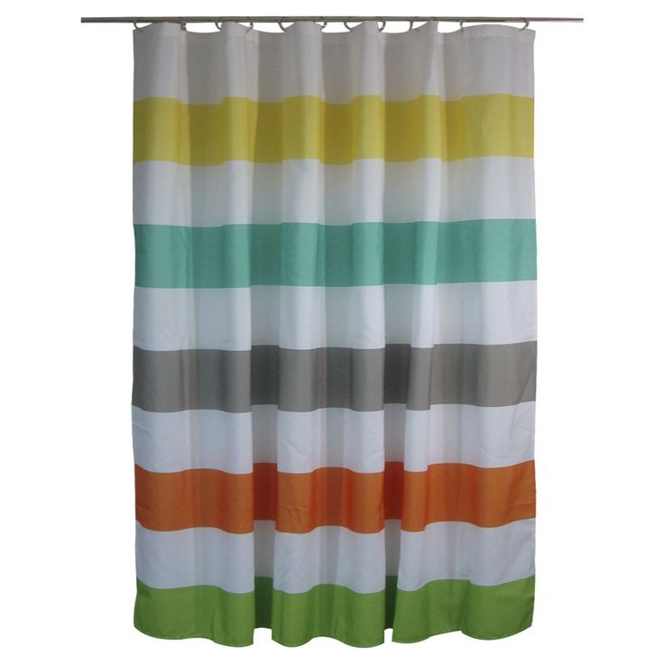 shower curtain circo rugby stripes warm target kids