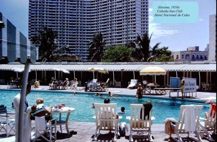 Foto: Cuba, Hotel Nacional, 1950s, Cabaña Sun Club, Piscina.
