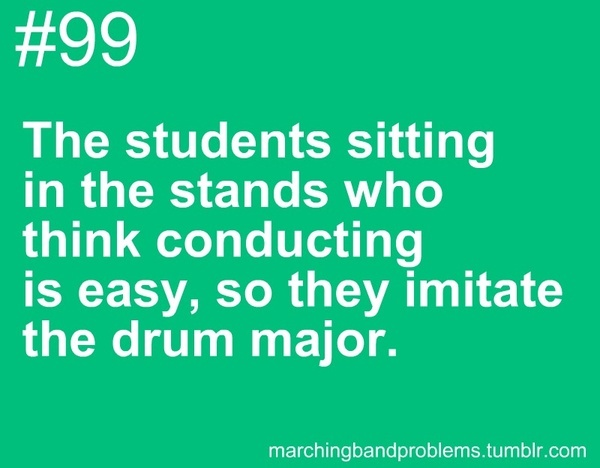 Marching Band Problems. please-don-t-stop-the-music