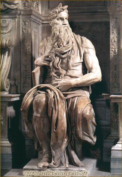 Моисей, мраморная скульптура. Микеланджело / www.mikelangelo.ru
