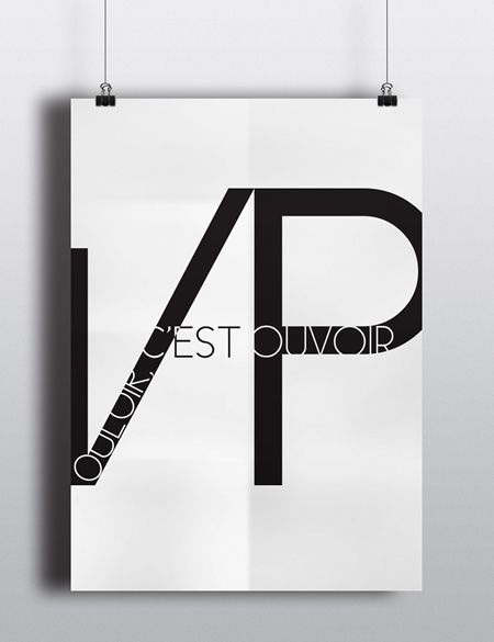 Vouloir c'est Pouvoir Typography Poster