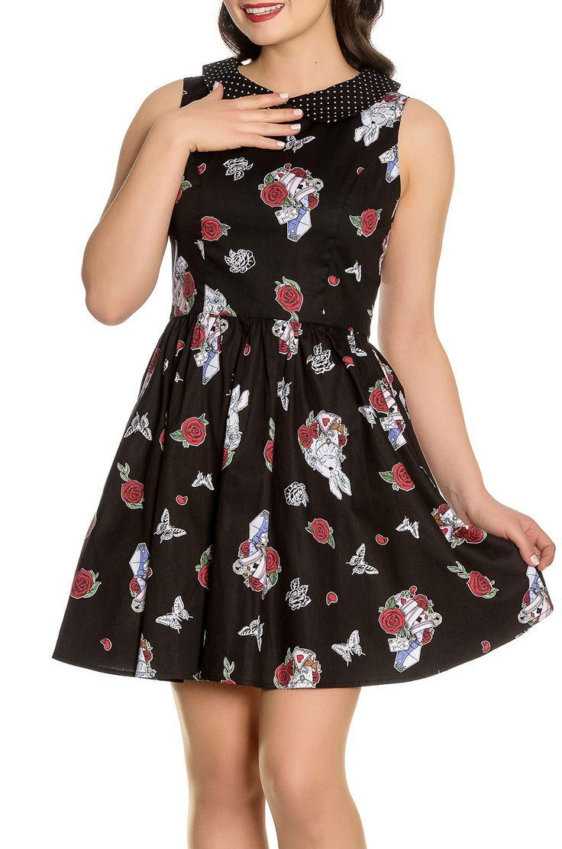 Vestido Alicia en el País de las Maravillas de Hell Bunny #vestido #wonderland #pinup #gotico #alternativo #tienda #gotica #xtremonline