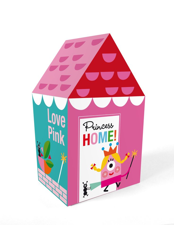 "Casita automontable / Self-assembly little house ""Princess house"". Printable http://es.dawanda.com/shop/linavila"