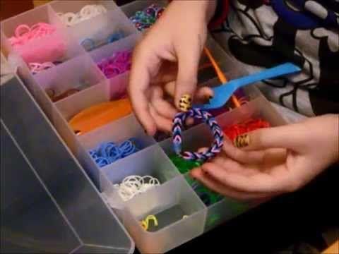 3 Técnicas FÁCILES para hacer pulseras de goma - YouTube