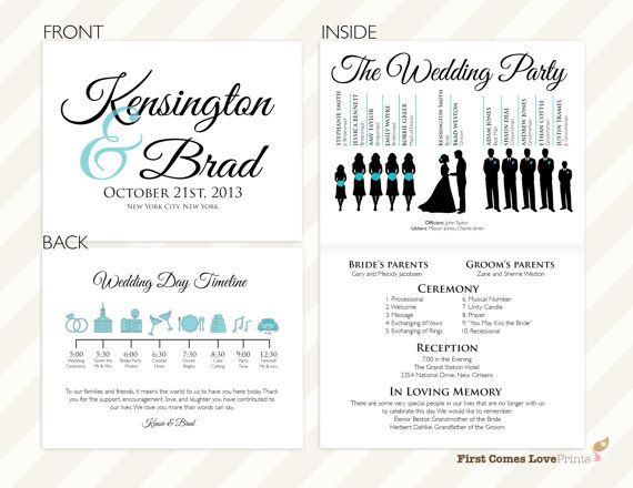 150 best Wedding Programs images on Pinterest