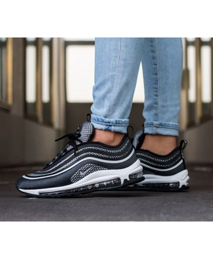 1aeb35301a Nike Air Max 97 Ultra'17 Black Pure Platinum Anthracite White Trainers