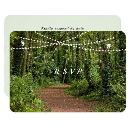 Elegant Enchanted Forest Wedding RSVP Card - wedding invitations cards custom invitation card design marriage party