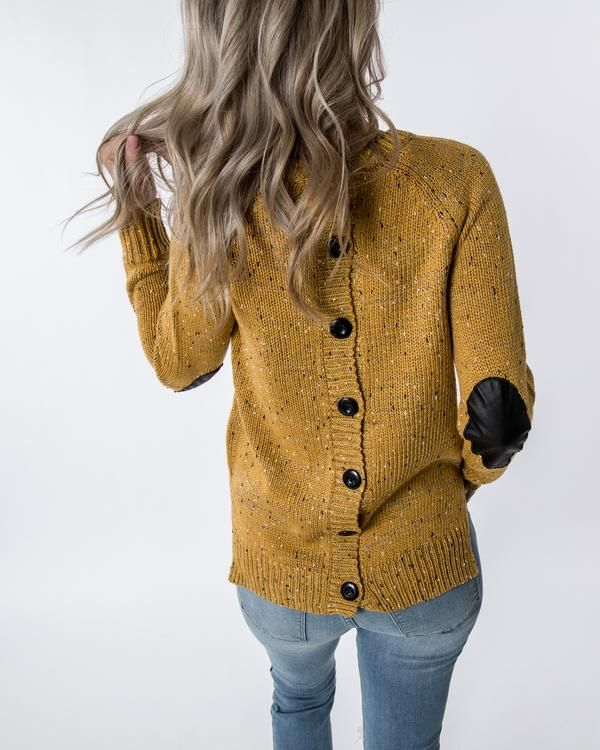 New Clothing Hacks 8417478622. button back mustard yellow speckle fall  favorite comfy cozy 2cd8eb12d
