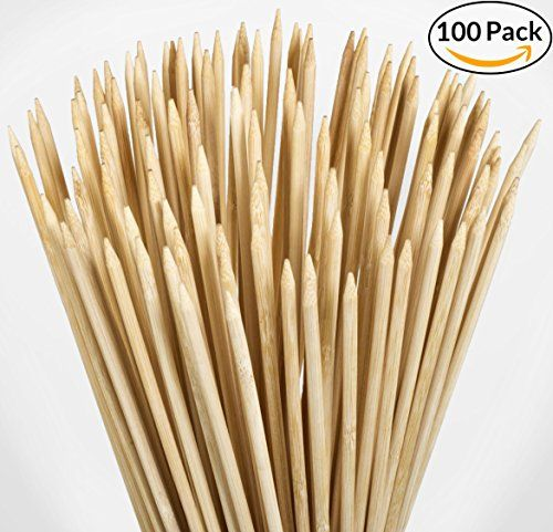 "100 Pack - 36"" Bamboo Marshmallow Roasting Sticks, Skewers - Hot Dog, Smores, BBQ, Kabobs, Boudin, Sausage. Camp Fire, Camping Stix. STRONGEST ON AMAZON 5.5mm"